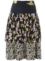 Marni 'Dawntreader' pleated tiered skirt - women - Silk - 42
