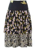 Marni 'Dawntreader' pleated tiered skirt