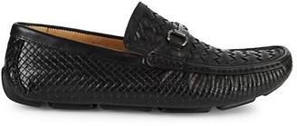 Saks Fifth Avenue Woven Leather Penny Slot Drivers