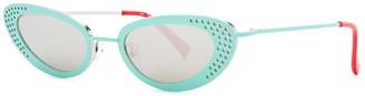 Le Specs X Adam Selman The Royale Cat-eye Sunglasses
