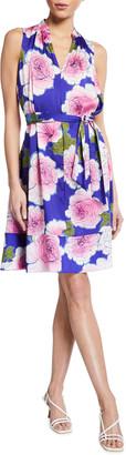 Natori Garden Blossom Sleeveless Dress