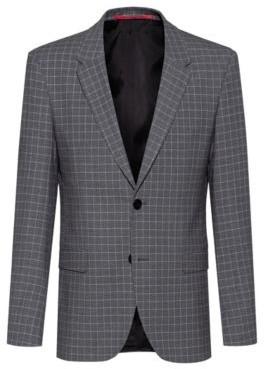 HUGO BOSS Slim-fit jacket in bi-stretch patterned fabric