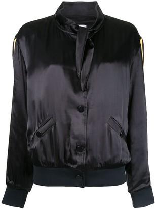 Zoe Karssen scarf collar bomber jacket