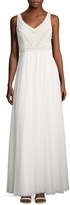 Adrianna Papell Women's Beaded V-Neck Gown
