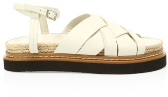 3.1 Phillip Lim Yasmine Leather Flatform Espadrille Sandals