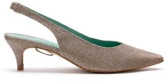 Blue Bird Shoes Talitha lurex sligback pumps