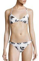 Proenza Schouler Two-Piece Falling Flowers Bikini