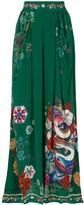 Camilla Emeralds Orbit print wide-leg trousers
