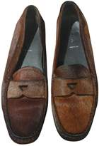 Prada Brown Pony-style calfskin Flats