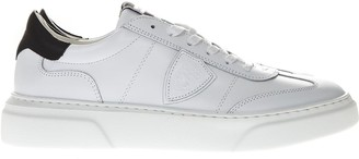 Philippe Model Balu White & Black Sneakers In Leather