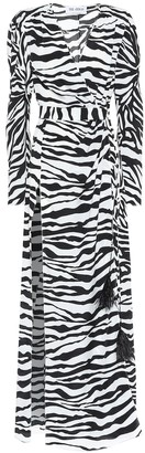 ATTICO Lauren zebra-print maxi dress