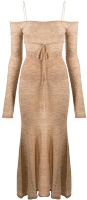 Jacquemus Off-Shoulder Knit Dress