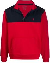 Polo Ralph Lauren colour-block pullover sweatshirt