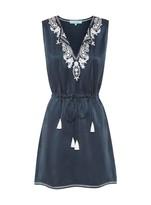 Sambag Amyline Silk Embroidered Dress