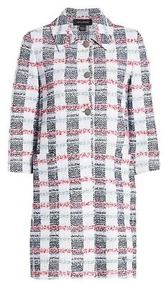 St. John Striped Tweed Longline Jacket