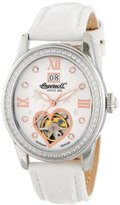 Ingersoll Women's IN5011WH Punca Analog Display Automatic Self Wind White Watch