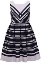 Bonnie Jean Girls 7-16 Mitered Stripe Poplin Dress