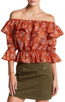 J.o.a. Off-the-Shoulder Ruffle Blouse