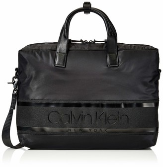 Calvin Klein Striped Logo Laptop Bag