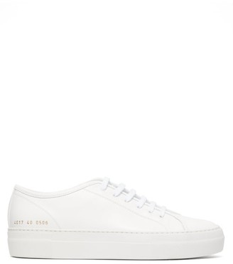 Common Projects Tournament Flatform Leather Trainers - Womens - White