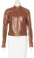 Ralph Lauren Embossed Leather Jacket