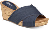 Style and Co Jillee Crisscross Slide Wedge Sandals, Only at Macy's