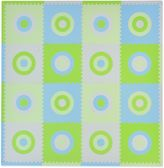 Tadpoles TadpolesTM by Sleeping Partners Circles 16-Piece Playmat Set in Blue/Green