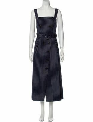 Altuzarra Striped Long Dress Blue