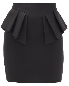 Alexandre Vauthier Peplum-waist Cotton Mini Skirt - Black
