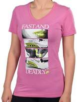 Nike Women's Fast And Deadly Air Max V-Neck T-Shirt-Pink-XS