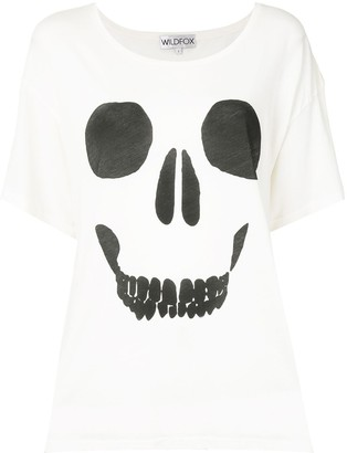 Wildfox Couture skull print loose T-shirt