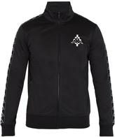 Marcelo Burlon County of Milan Kappa contrast-panel zip-up sweatshirt
