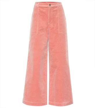 Ganni Stretch corduroy wide pants