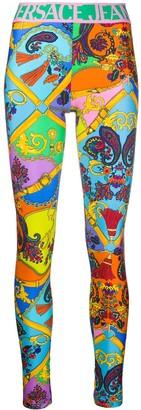 Versace Graphic-Print Leggings