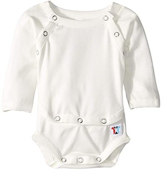 Lotsa Brave People Abdominal Access One-Piece with Port Access (Infant) (White) Kid's Jumpsuit & Rompers One Piece