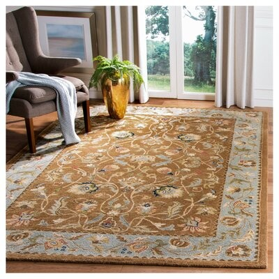 Astoria Grand Molter Hand Tufted Wool Brown Area Rug Rug Size Rectangle 5 X 8 Shopstyle