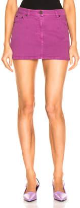 Alberta Ferretti Denim Mini Skirt in Purple | FWRD