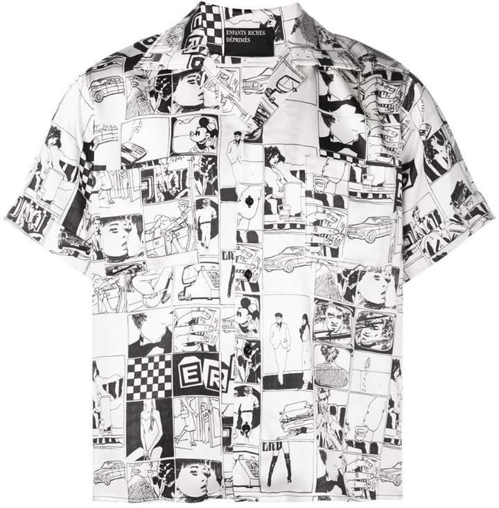 Enfants Riches Deprimes comic printed shirt