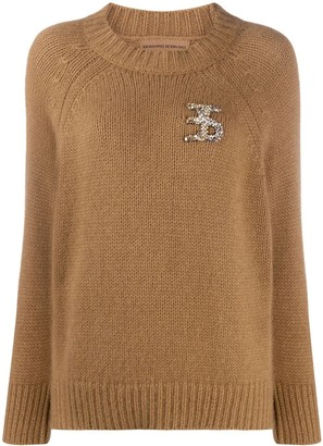 Ermanno Scervino Sequin Embroidery Detail Jumper