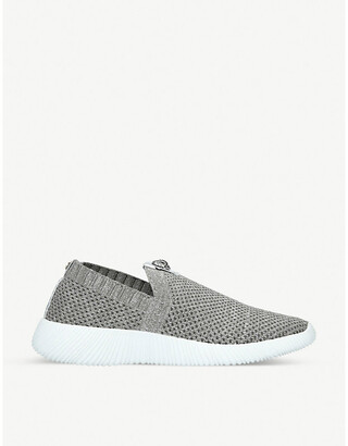 Kurt Geiger Lorna logo-embellished knitted trainers