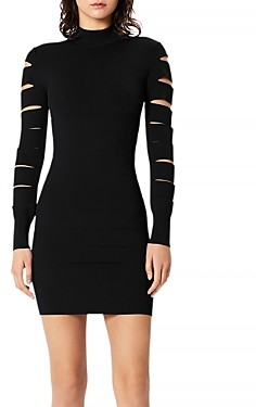 Herve Leger Bandage Slit Sleeve Dress