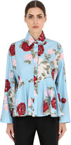 Antonio Marras Floral Printed Cotton Poplin Shirt