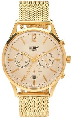 Henry London Henry Westminster London Unisex Quartz Watch with Chronograph Quartz Stainless Steel HL41cm (