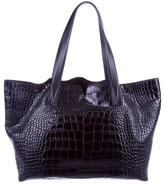 Vince Embossed Leather Tote