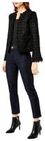 Warehouse Sparkle Tweed Jacket, Black