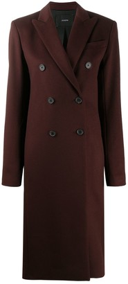 Joseph Double-Breasted Mid-Length Coat