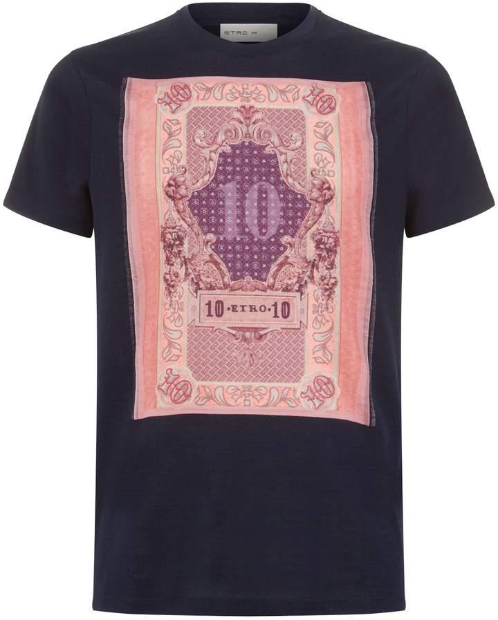 Etro Money Print T-Shirt