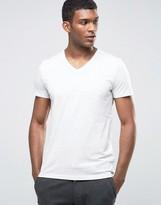 Esprit V-Neck T-Shirt in Melange