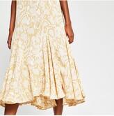 Thumbnail for your product : River Island Hanky Hem Midi Dress - Light Yellow