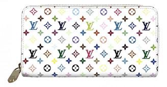 Louis Vuitton Zippy Multicolour Cloth Wallets